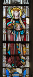 Stained Glass - Saint Catherine Stock Photography