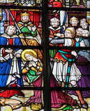 Stained Glass - Saint Catherine Stock Image