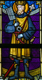 Stained Glass - Saint Ferdinand Royalty Free Stock Photo