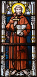 Stained Glass - Saint Francis of Assisi Stock Photography
