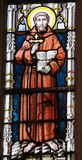Stained Glass - Saint Francis of Assisi Stock Photos