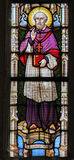 Stained Glass - Saint Franciscus Stock Photo