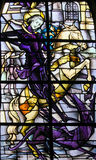 Stained Glass - Saint George and the Dragon Stock Images