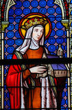 Stained Glass - Saint Hedwig of Silesia Royalty Free Stock Photography