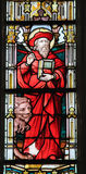 Stained Glass - Saint Jerome Royalty Free Stock Photo