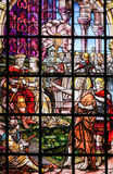 Stained Glass - Saint John the Baptist Stock Images