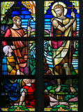 Stained Glass - Saint John the Baptist Stock Photography