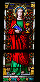 Stained Glass - Saint John the Evanglist Stock Photography