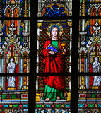 Stained Glass - Saint John the Evanglist Royalty Free Stock Photography