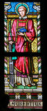 Stained Glass - Saint Lawrence of Rome Stock Photo