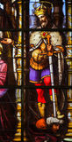 Stained Glass - Saint Louis, King of France Stock Image