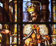 Stained Glass - Saint Louis, King of France Royalty Free Stock Photos