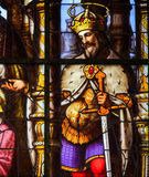 Stained Glass - Saint Louis, King of France Royalty Free Stock Photo
