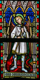 Stained Glass - Saint Michael Royalty Free Stock Photos
