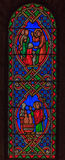 Stained Glass in Saint Nicholas Cathedral Monaco Ville Stock Image