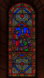 Stained Glass in Saint Nicholas Cathedral Monaco Ville Stock Photography
