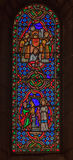 Stained Glass in Saint Nicholas Cathedral Monaco Ville Royalty Free Stock Photo
