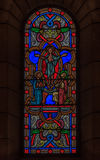 Stained Glass in Saint Nicholas Cathedral Monaco Ville Royalty Free Stock Images