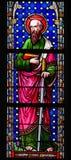 Stained Glass - Saint Paul or Paulus Stock Photos
