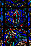Stained Glass Saint Peter Paul Church San Francisco 2012 Royalty Free Stock Photos