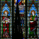 Stained Glass - Saint Peter and Saint John the Apostles Stock Image