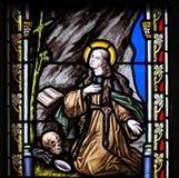 Stained Glass - Saint Rosalia Stock Photos
