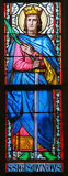 Stained Glass - Saint Sigismund, King of Burgundy Stock Photography