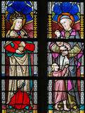 Stained Glass - Saint Vincent de Paul and Mary Magdalene Royalty Free Stock Photography