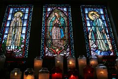 Stained Glass Saints Stock Photography
