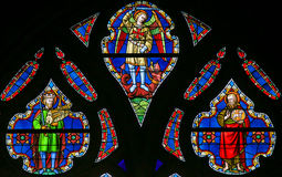 Stained Glass - Saints Michael and John the Baptist Royalty Free Stock Photography