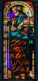 Stained Glass - San Petronio, Patron Saint of Bologna Royalty Free Stock Photography