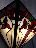 Stained glass sconce Stock Images