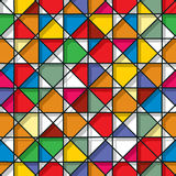 Stained glass seamless pattern Royalty Free Stock Images