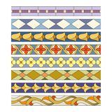 Stained glass seamless patterns Stock Photos
