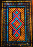 Stained glass in Shirvanshah's Palace Stock Photos