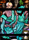 Stained Glass - Skeleton Stock Photo