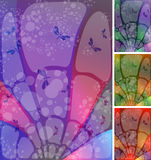 Stained-glass sky vector illustration