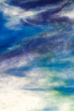 Stained glass sky blue opaque Stock Photography