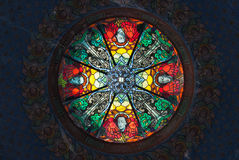 Stained glass skylight Stock Images