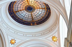 Stained Glass skylight dome Royalty Free Stock Image