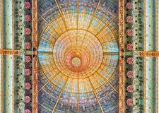 Free Stained-glass Skylight, Palau De La Musica Catalana, Barcelona, Stock Photos - 114431253