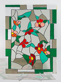 Stained glass - small flowers Stock Photos