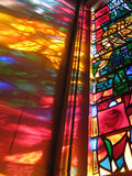 Stained Glass Spectrum. Photo of spectrum of colors from a stained glass window at the National Cathedral in Washington D.C Stock Photography