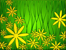 Stained glass spring Stock Images