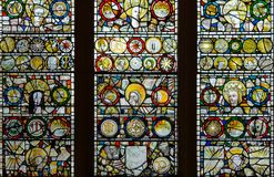 Stained Glass in St John Chapel B2 Royalty Free Stock Photo