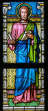 Stained Glass - St Luke the Evangelist Royalty Free Stock Photo