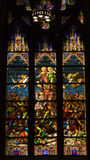 Stained Glass St. Patrick's Cathedral stock images