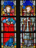 Stained Glass - St Peter and St Francis Xavier Royalty Free Stock Images