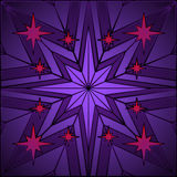Stained glass star Royalty Free Stock Image