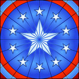 Stained glass star Stock Image